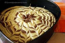 Příprava receptu Famózní ZEBRA dort, krok 14