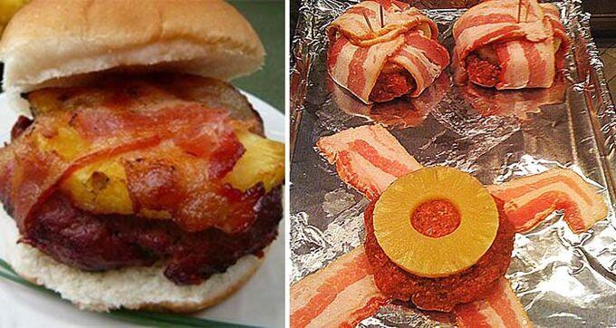 Recept Hawai burger se slaninou