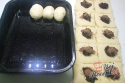 Příprava receptu Pečené buchty s kakaem a povidly, krok 3