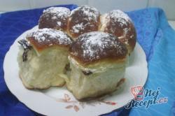 Příprava receptu Pečené buchty s kakaem a povidly, krok 9
