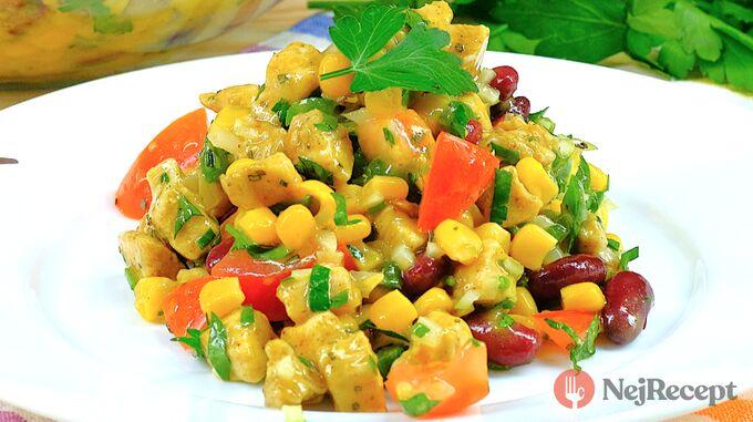 Recept Kuřecí salát bez majonézy s medově hořčicovým dresinkem