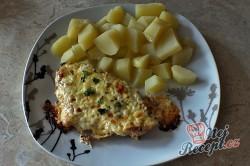 Příprava receptu Zapečená kuřecí prsa se zakysanou smetanou a sýrem, krok 3