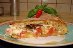 Příprava receptu Výborná plněná pizzová placka s lilkem, krok 6