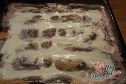 Příprava receptu CIK-CAK pudinkáček se smetanovou vrstvou, krok 13