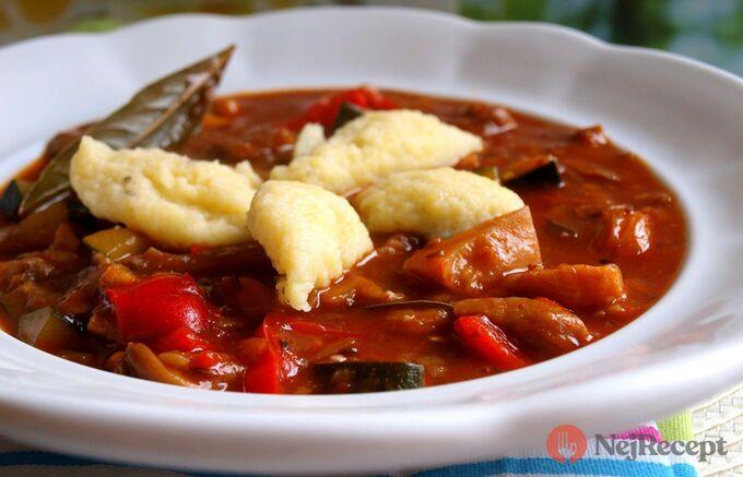Recept Hlívovo-zeleninový guláš s nočky