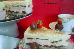 Příprava receptu Nepečený dortík s třešněmi a piškoty, krok 1