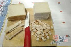 Příprava receptu Toastová roláda se šunkou, krok 2