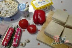 Příprava receptu Toastová roláda se šunkou, krok 1
