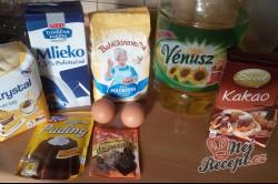 Příprava receptu Litý perník posypaný moučkovým cukrem, krok 1