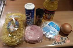 Příprava receptu Tvarohovo - šunkové nudličky, krok 1
