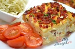 Příprava receptu Zapékané těstoviny s tvarohem a slaninou, krok 11