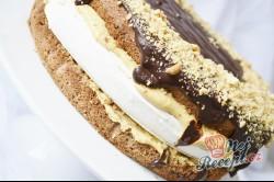 Příprava receptu Karamelově pěnový dort, krok 1