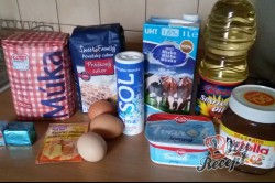 Příprava receptu Ministerské plněné rohlíčky, krok 1