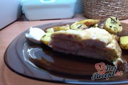 Recept Slaný kuřecí dort se šunkou a sýrem