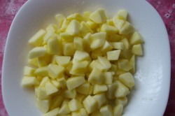 Příprava receptu Jablečné řezy s pudinkem, krok 1