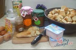 Příprava receptu Tvarohová žemlovka s jablíčky, krok 1
