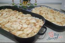 Příprava receptu Tvarohová žemlovka s jablíčky, krok 5