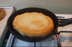 Příprava receptu Langoše se šunkou a sýrem, krok 3