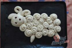 Příprava receptu Šnekový beránek - velikonoční pečení, krok 1