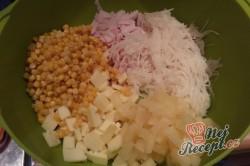 Příprava receptu Celerový salát s ananasem a pórkem, krok 4