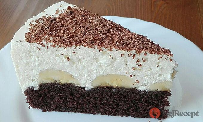 Recept Banánový dort s tvarohovým krémem