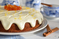 Příprava receptu Zdravější dezert - Mrkvový dort s citronovou polevou, krok 16