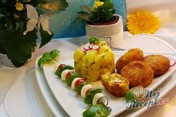Příprava receptu Květákovo-kedlubnové kouličky s mozarellou, krok 4