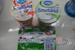 Příprava receptu Nepečené tvarohové sklenice s jahodami, krok 3