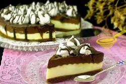 Příprava receptu NEPEČENÝ cheesecake s nutelou a mascarpone krémem, krok 10