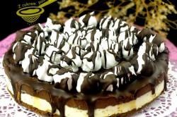 Příprava receptu NEPEČENÝ cheesecake s nutelou a mascarpone krémem, krok 7