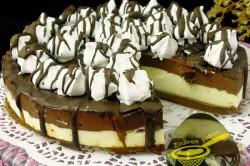 Příprava receptu NEPEČENÝ cheesecake s nutelou a mascarpone krémem, krok 9