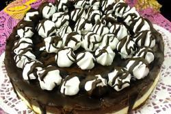 Příprava receptu NEPEČENÝ cheesecake s nutelou a mascarpone krémem, krok 8