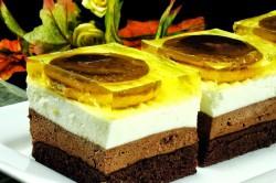 Příprava receptu Jaffa koláč se želatinou, krok 1