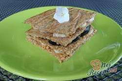 Příprava receptu Ovesné sendviče s ovocem, krok 1