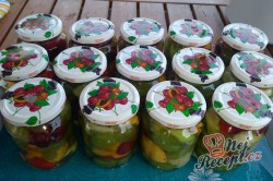 Příprava receptu Míchané ovoce na dlouhé zimní večery, krok 4