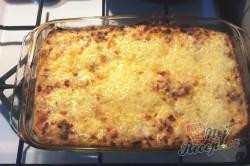 Příprava receptu Lasagne s rajčaty, sýrem a šunkou, krok 11
