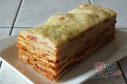 Příprava receptu Lasagne s rajčaty, sýrem a šunkou, krok 12