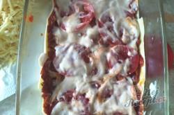Příprava receptu Lasagne s rajčaty, sýrem a šunkou, krok 9