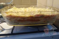 Příprava receptu Lasagne s rajčaty, sýrem a šunkou, krok 10