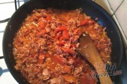 Příprava receptu Lasagne s rajčaty, sýrem a šunkou, krok 3
