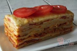Příprava receptu Lasagne s rajčaty, sýrem a šunkou, krok 13