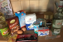Příprava receptu Fantastický koláč Nescafé se smetanovo čokoládovou pěnou, krok 1