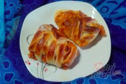 Příprava receptu Pizzovníky z kynutého těsta v netradičním tvaru, krok 9