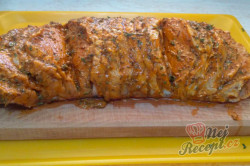 Příprava receptu Vepřové masíčko prokládané sýrem a uzeným, krok 2
