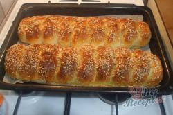 Příprava receptu Stříhané česnekové buchty, krok 4