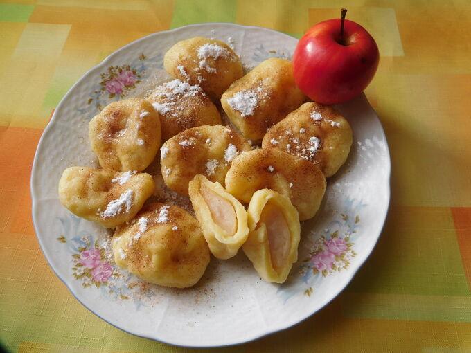 Recept Tvarohové knedlíky s jablky