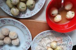 Příprava receptu Bramborové domácí krokety se sýrem a šunkou, krok 4