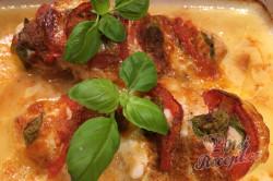 Příprava receptu Kuřecí ježek plněný mozzarellou, rajčetem a bazalkou, krok 6