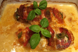 Příprava receptu Kuřecí ježek plněný mozzarellou, rajčetem a bazalkou, krok 7