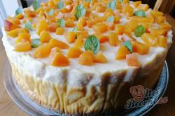 Příprava receptu Vanilkový cheesecake s broskvemi, krok 1
